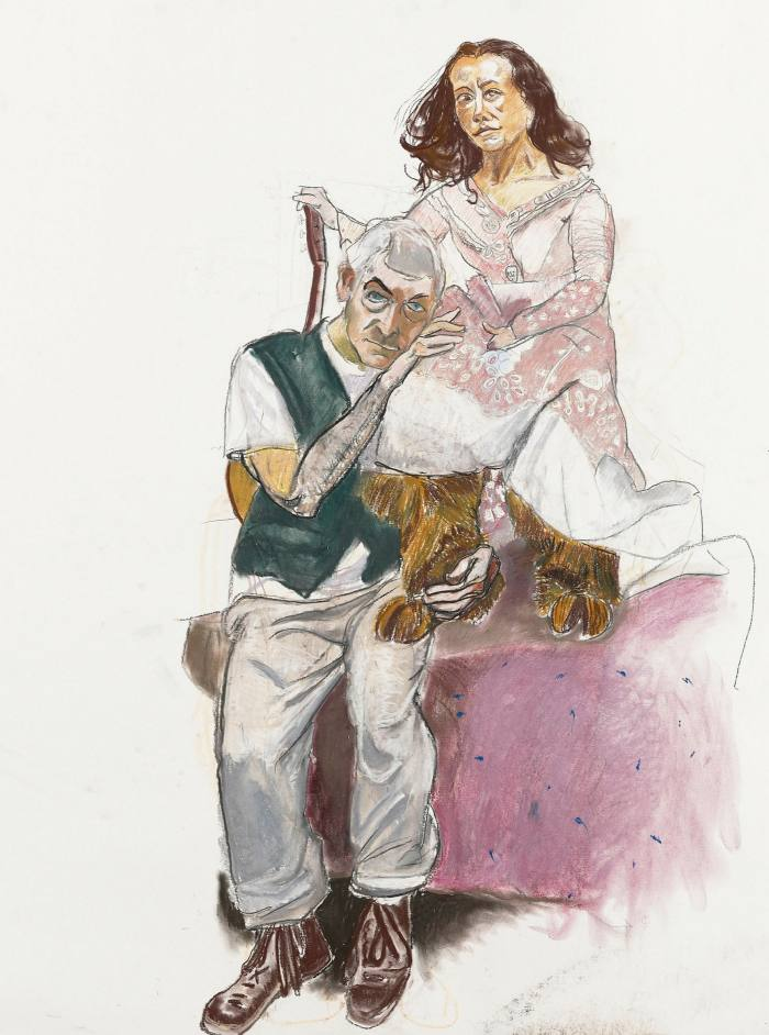 'Dame with Goat's Foot 1, (Undressing the Divine Lady)' by Paula Rego, 2011-12