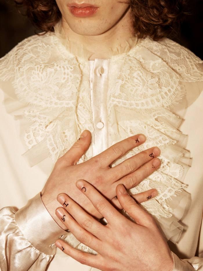 Gucci satin Fides shirt, £1,350