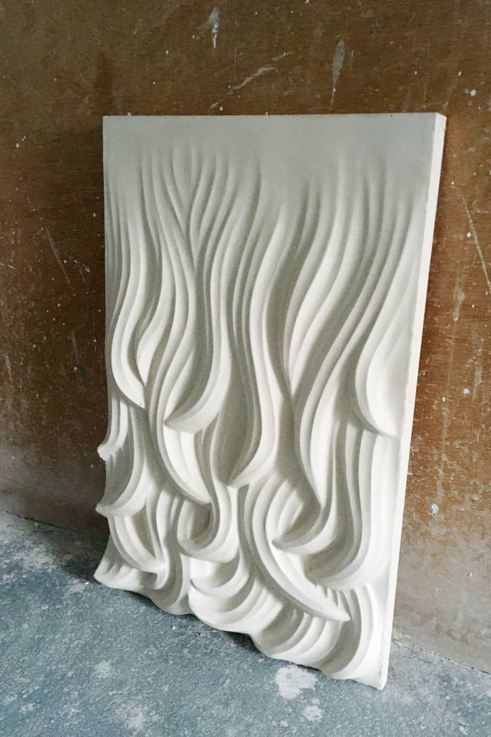 Textured table design by James Rigler