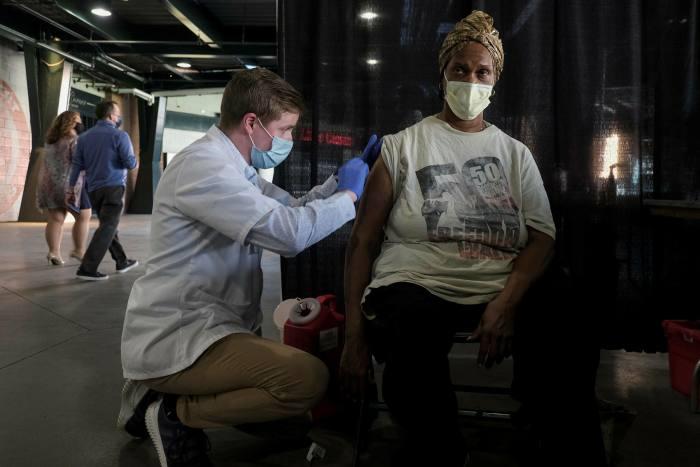 A free flu clinic vaccination event in Detroit, Michigan