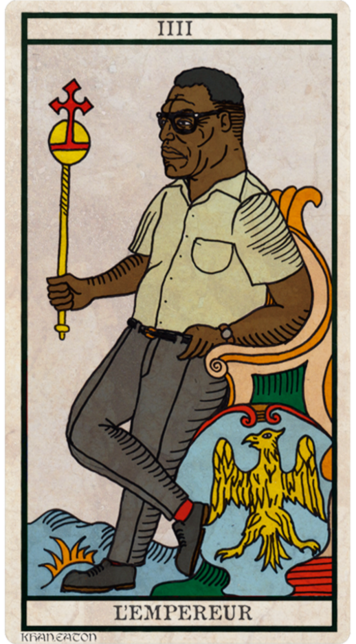 """""""L'Empereur"""" from the Black Power Tarot"""