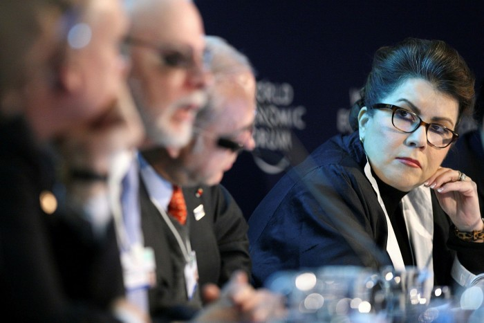 Carmen Reinhart, pictured at the World Economic Forum in 2011, was a leading advocate of austerity after the 2008-09 financial crisis