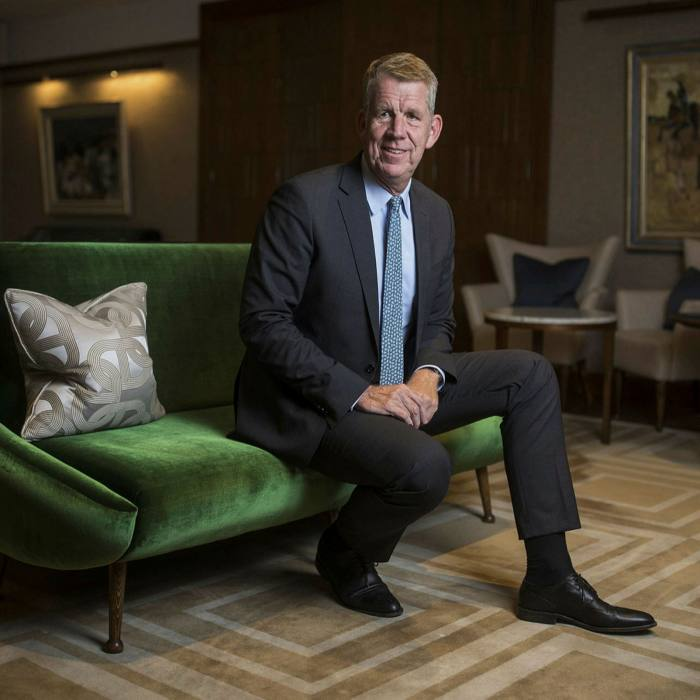 Fritz Joussen, chief executive of Tui. Billions of euros from a Frankfurt development bank saved the tour operator from imminent collapse
