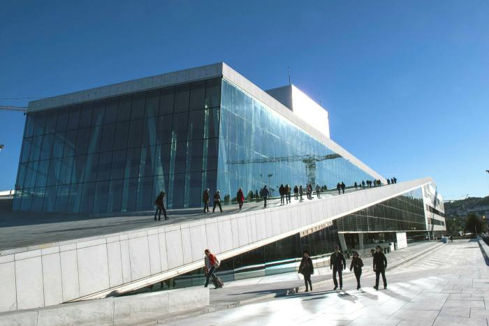 Architects from Snohetta, the practice behind Oslo's spectacular opera house, have talked to staff of the Norwegian oil fund about creativity