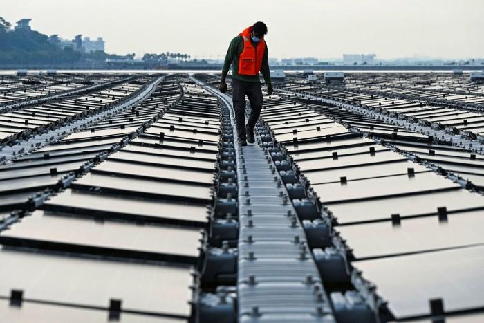A solar power farm