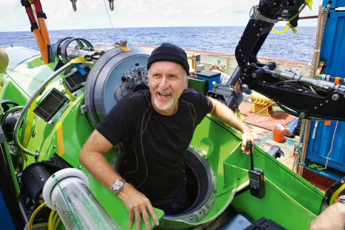 Director James Cameron strapped a Rolex to an arm of his Deepsea Challenger in 2012