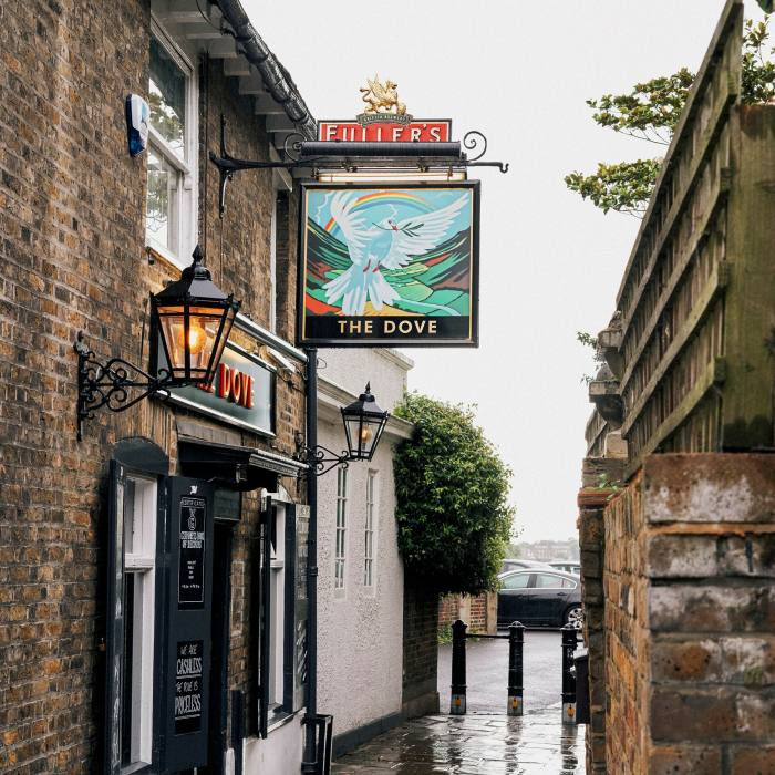 The Dove is tucked down a narrow sidestreet