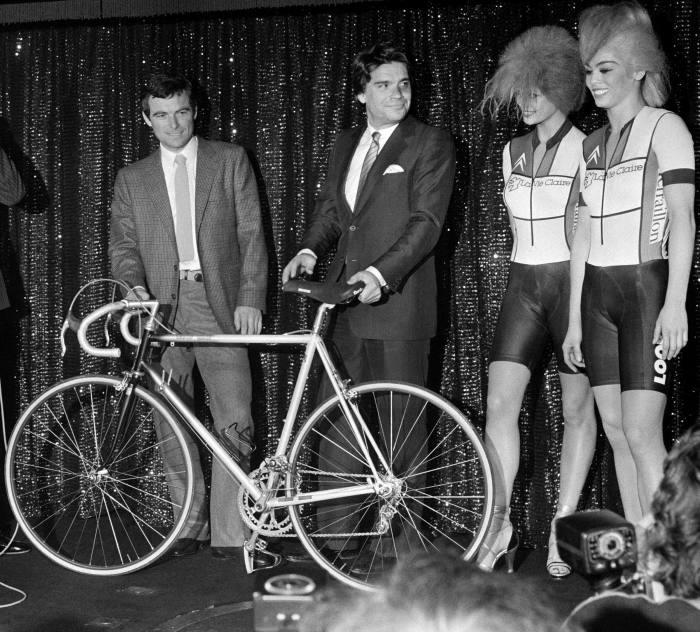 Bernard Tapie with French cyclist Bernard Hinault