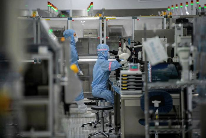 A semiconductor plant in Beijing. Semiconductors are now a key point of technological contention between the US-led west and China
