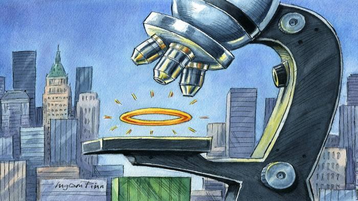 Ingram Pinn illustration  of Gillian Tett's column 'Why ESG investing makes fund managers more money'