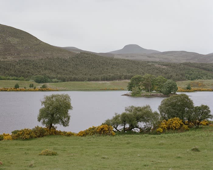 A view of Loch Brora with the Highland hills in the background