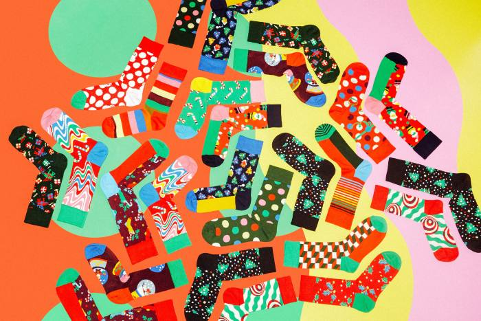 Happy Socks's calendar contains 24 colourful pairs of socks