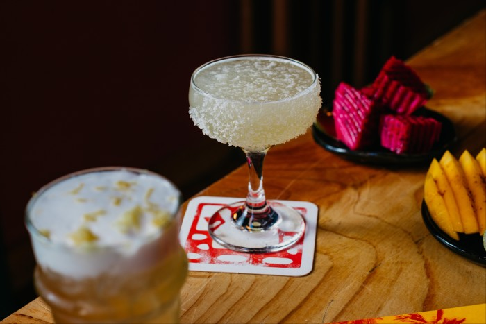 At Cantina OK! in Sydney, the Margarita is served with Japanese shichimi