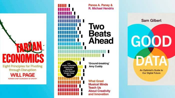 Pictures of the front covers of business books