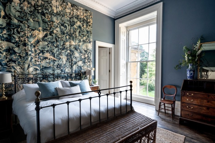 One of the bedrooms at Keythorpe Hall