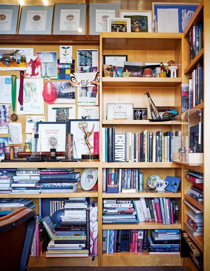 Shelves in Rockwell's office