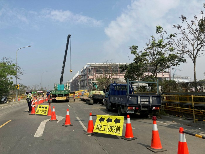 The construction site of the new TSMC fabrication plant. In the world of semiconductors, the 35 hectare manufacturing complex is the centre of the universe