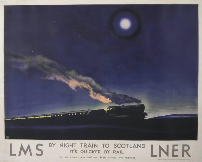 1932 Philip Zec poster for LMS, sold at Onslows in November 2020 for £20,500