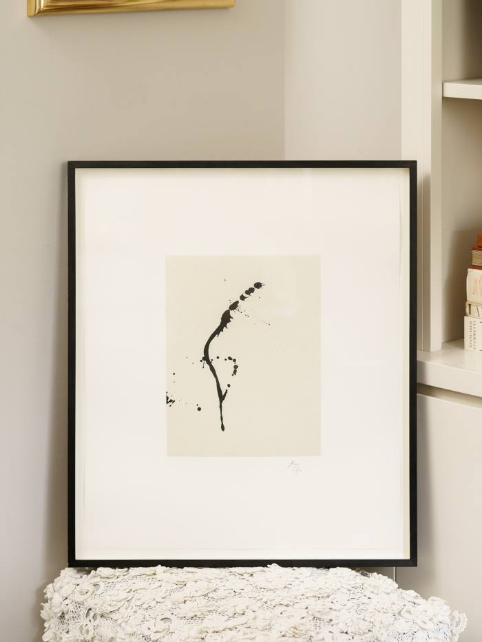 Robert Motherwell's A Throw of theDice, a birthday present forherhusband Peter