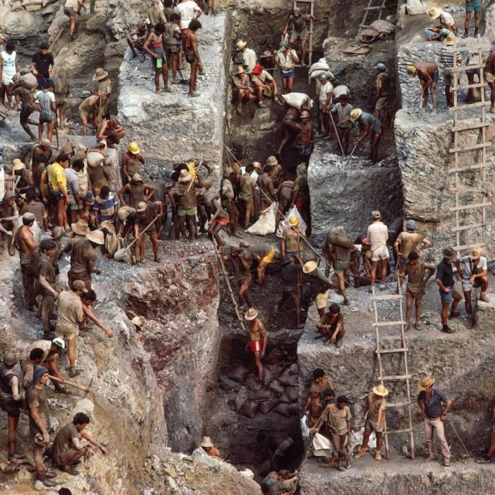 Serra Pelada Gold Mine in Pará State, Brazil, in the 1980s...