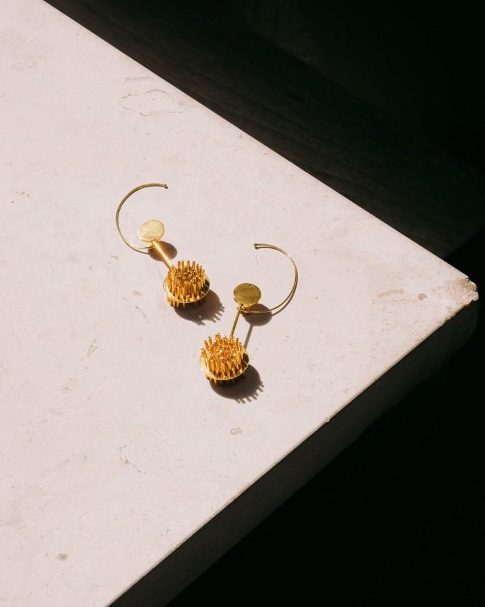 The Pol Bury earrings he gave his partner, Alexandra