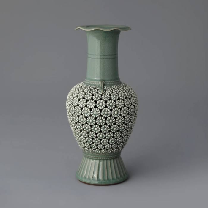 Celadon vase, 2019, by Kim Seyong, £16,400, from Icheon Ceramic by Han Collection