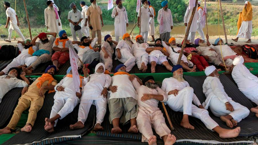 Indian farmers block railway lines and roads to protest agricultural reforms