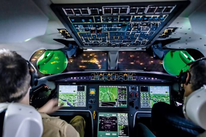 The aircraft's pioneering head-up display