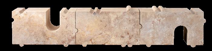 Hume modular stone bench in travertine,$12,950