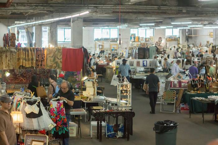 The Chelsea flea market took shape in the 1970s and 1980s with an influx of underground clubs, artists and writers and became one of the largest in the US