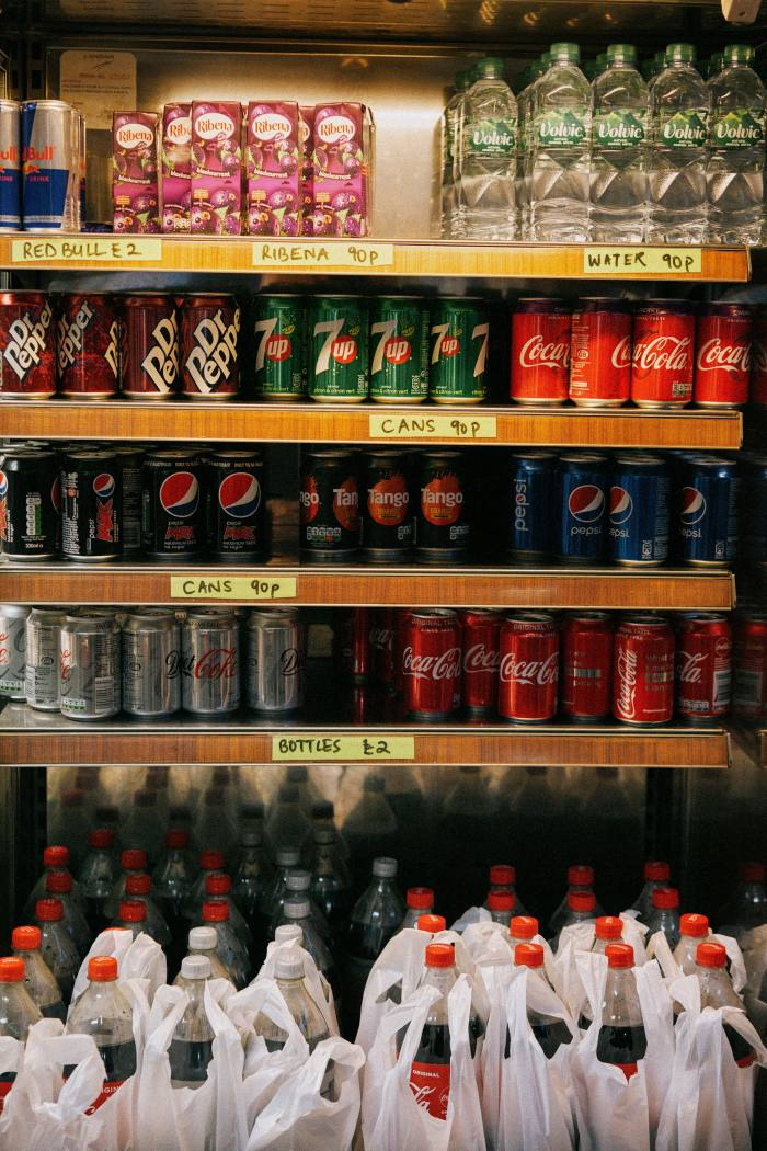 A selection of cold drinks