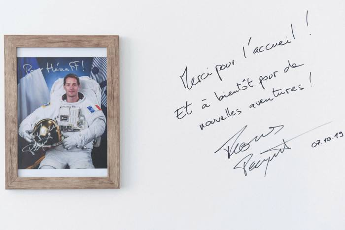 A signed framed picture of French astronaut Thomas Pesquet  - https 3A 2F 2Fd1e00ek4ebabms - Russia to pull out of International Space Station in 2025
