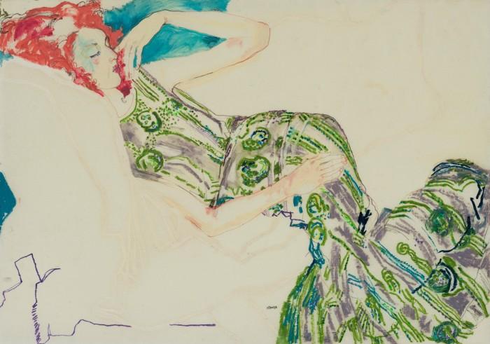 Manon (Lying Down – Jenny P Dress Green), 2010