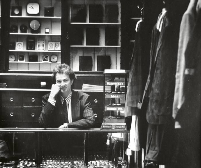Paul Smithin his Covent Garden shop, 1984