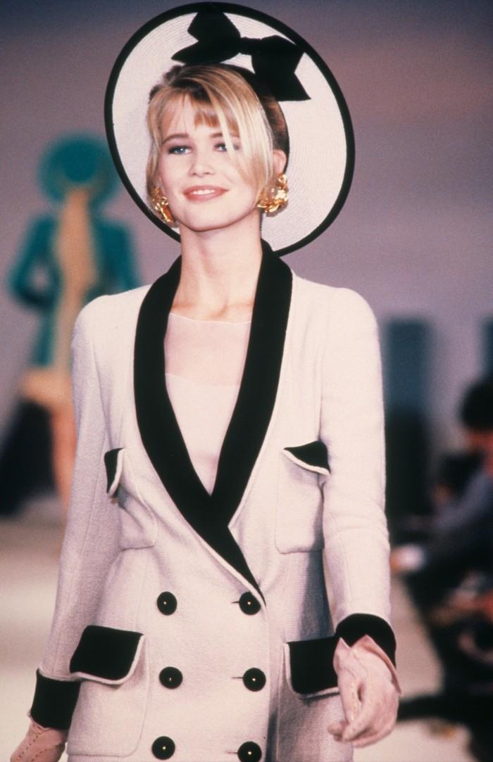 Claudia Schiffer in Chanel, 1990