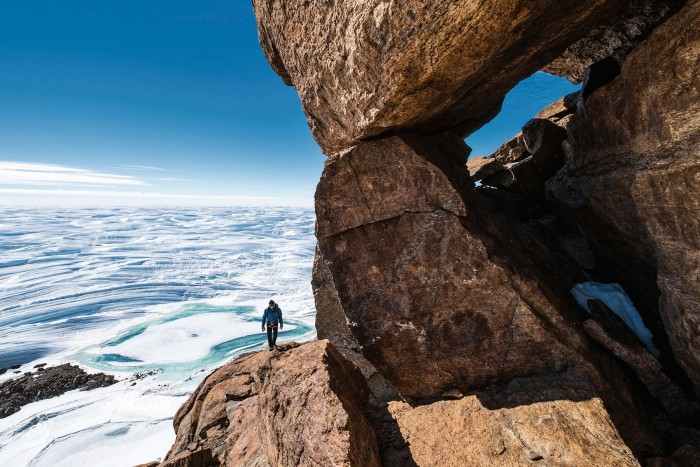 A hike from White Desert's Wolf's Fang Camp in Antarctica