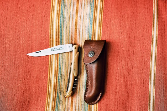 His pocket knife by Laguiole