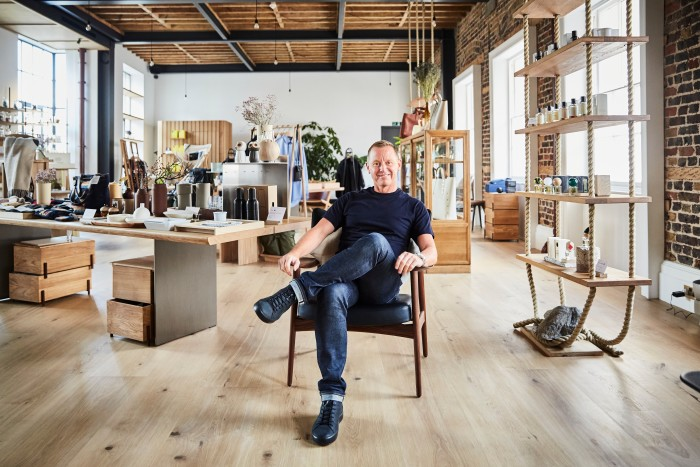 Pantechnicon co-founder Barry Hirst, who describes the London emporium as a celebration of a 'shared aesthetic... minimal, modest and utilitarian'