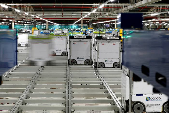 Ocado builds 54 robotic distribution centers around the world for its customers