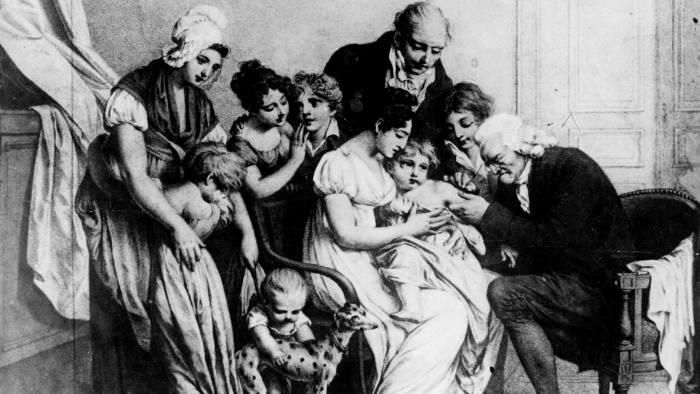 Edward Jenner vaccinates his son. Even the inventor of the smallpox vaccine faced scepticism, but mistrust more than misunderstanding stokes vaccine fear