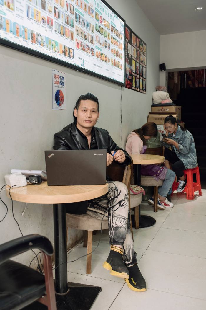 Many residents of Atule'er have been resettled to the nearby market town of Zhaojue where entrepreneurs such as Mao Dongtian (pictured), who owns a local chain of cafés and karaoke bars, offer employment