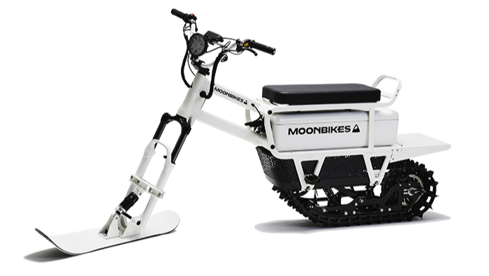 An electric snowmobile