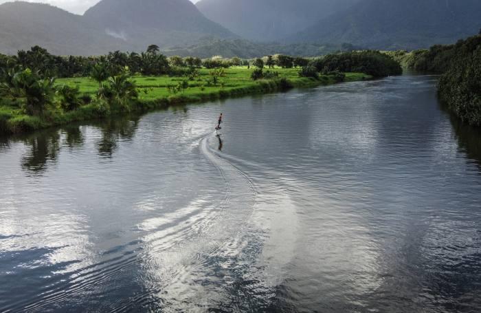 Surfer Laird Hamilton onaLift eFoil in Hawaii