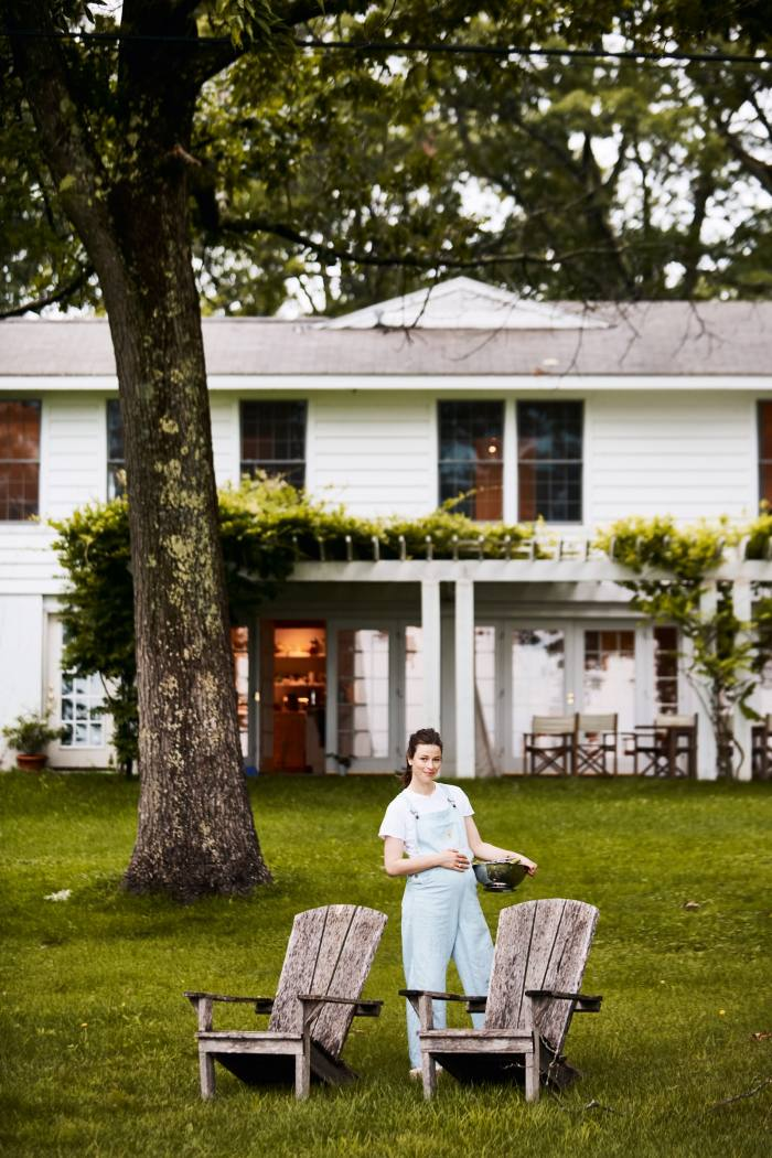 Chef Clare deBoer at her home inDover Plains
