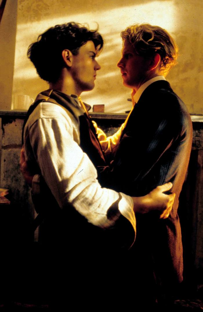 Rupert Graves as Alec and James Wilby as Maurice in Merchant-Ivory's 1987 film version of 'Maurice'