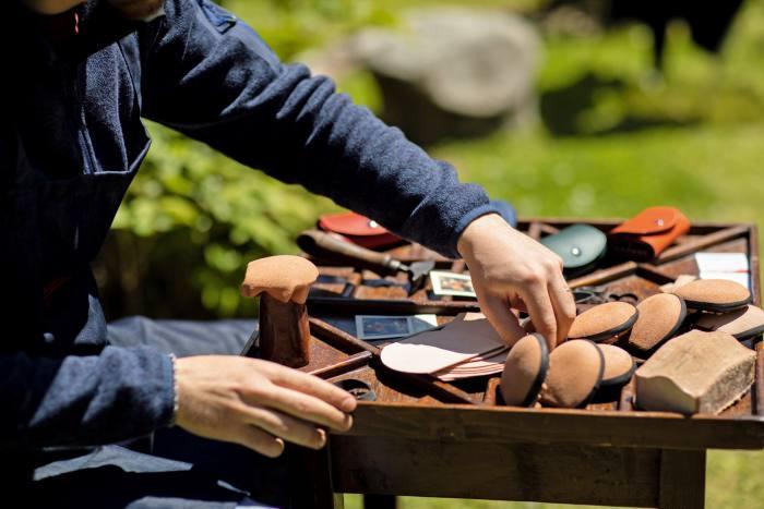 Leather work at the annual artisan exhibition Artigianato e Palazzo