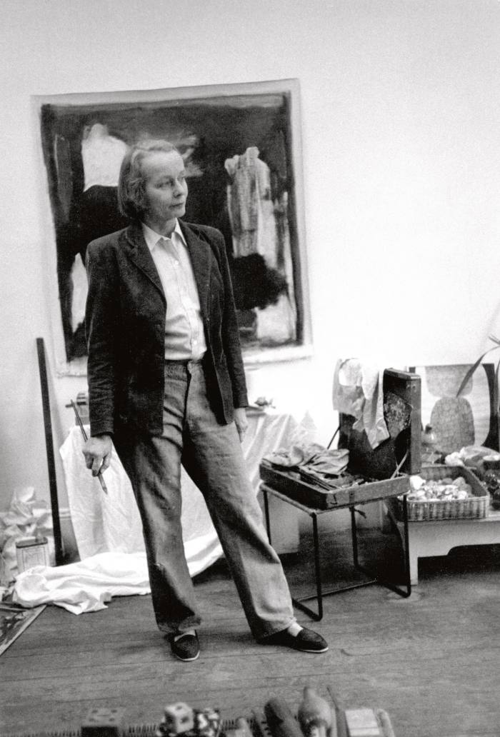 Betty Parsons in her studio