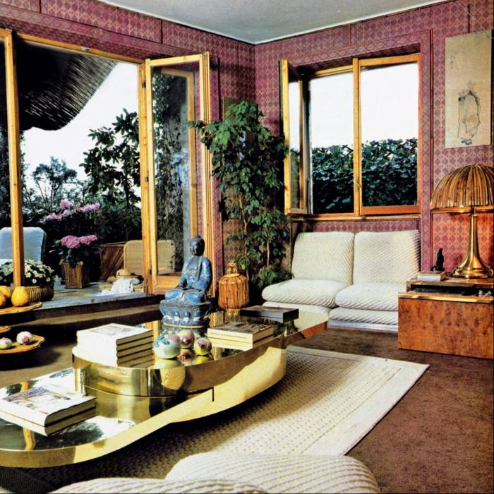 Crespi's Milan apartment in the late 1970s