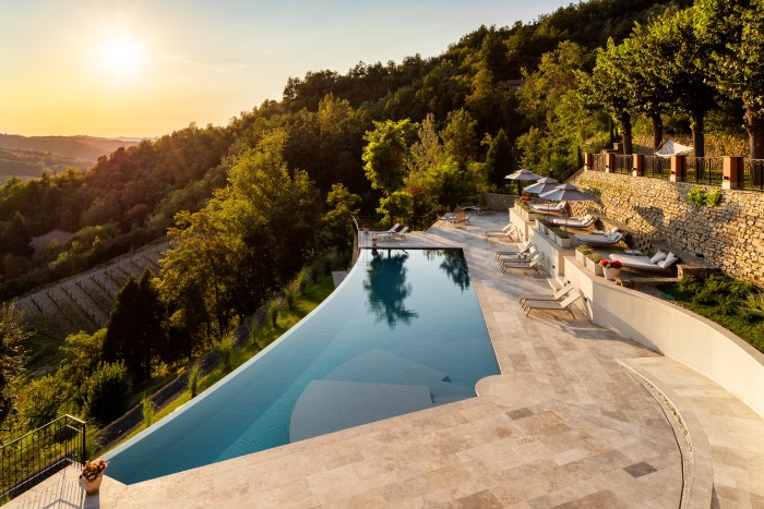 """Views over the hills can be seen from """"lounges, saunas, fitness studios and indoor pools"""""""