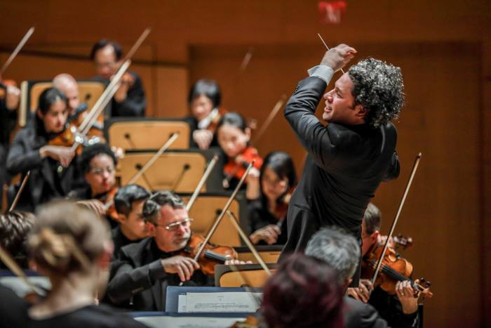 Conductor Gustavo Dudamel at the LA Philharmonic